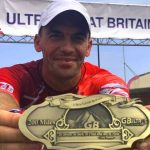 Artur Kujawiński z medalem Ultra Great Britain